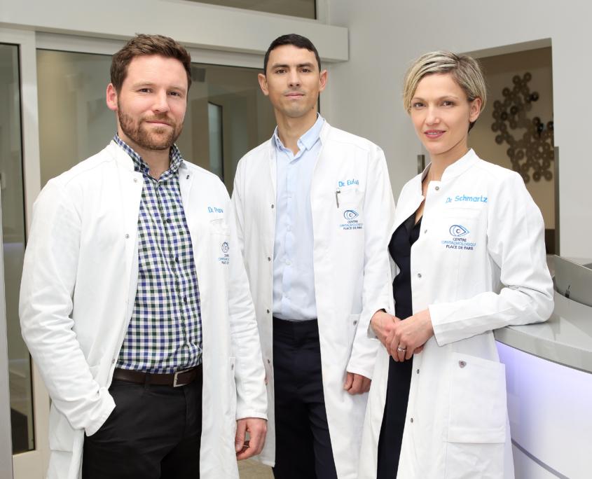 Les médecins du centre ophtalmologique place de Paris au Luxembourg